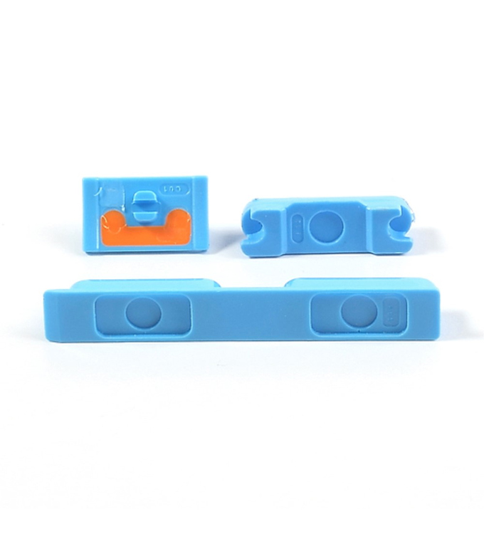 iPhone 5C Seitentasten Set blau