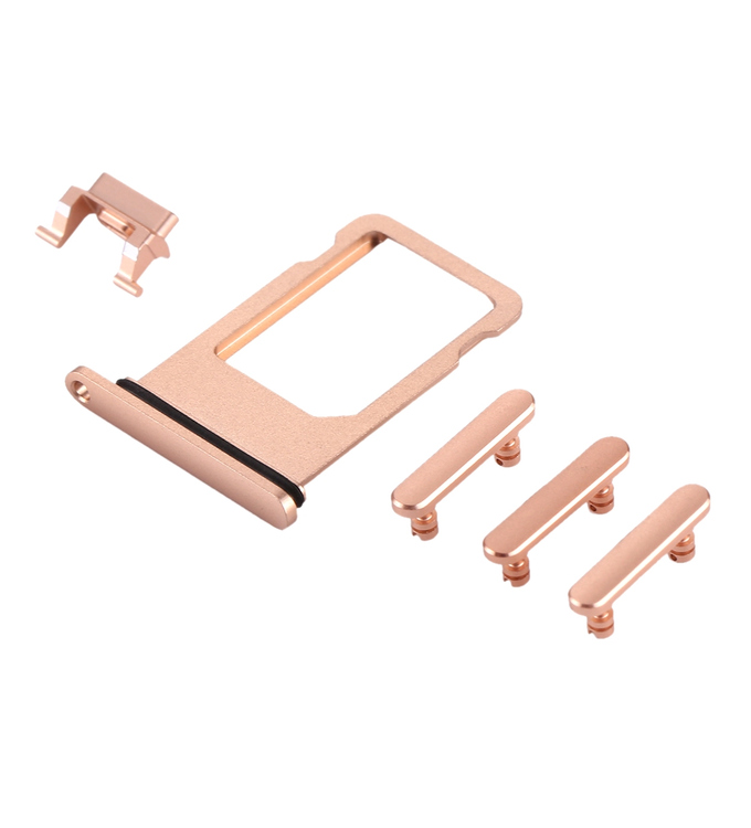 iPhone 8 Seitentasten Set mit Simkartenhalter  gold